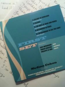 FIRST SET Nadine COHEN Quartet 001